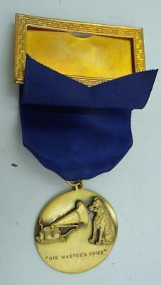 Vintage Rca His Master's Voice Medal Old New Stock