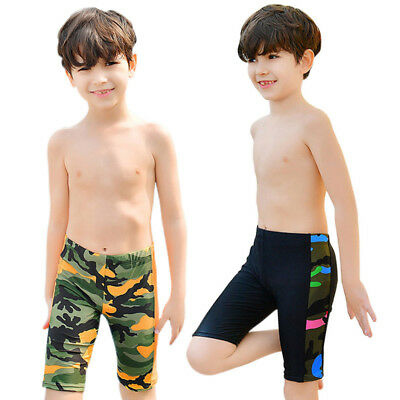 Kids Boys Swimming Trunks Junior Children Swimwear Comfy Pool Bathing Shorts