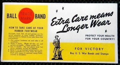 1940s BALL BAND RUBBER FOOTWEAR ink blotter paper