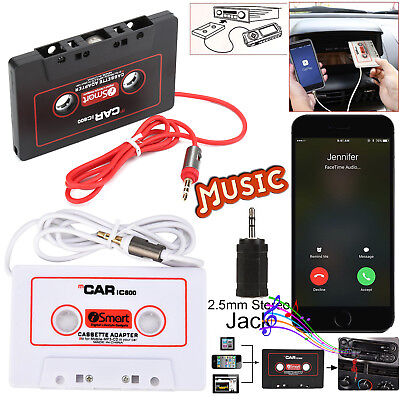 Car Audio Tape Cassette to 3.5MM Jack AUX Connector for iPod iPad MP3 iPhone