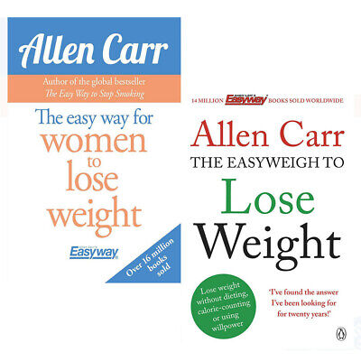 Allen Carr Collection 2 Books Set Easyweigh to Lose Weight,Easy Way for Women