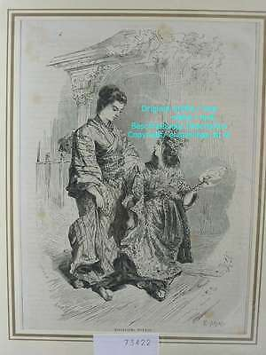 73422-Asien-Asia-Japan-Nippon-Nihon-Mädchen-Girl-T Holzstich-Wood engraving-1860