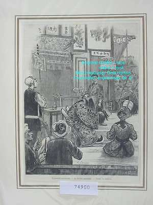 74900-Asien-Asia-Vietnam-Anam-Theater Annamite-T Holzstich-Wood engraving
