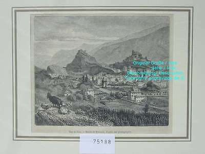 75188-Schweiz-Swiss-Switzerland-Sion-Valais-Wallis-T Holzstich-Wood engraving