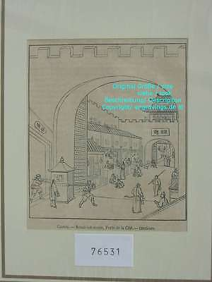 76531-Asien-Asia-China-Canton-Kanton-T Holzstich-Wood engraving