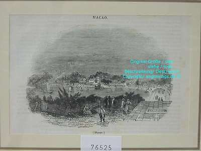 76525-Asien-Asia-China-Macao-T Holzstich-Wood engraving