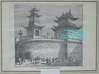 76534-Asien-Asia-China-Peking-Beijing-Porte-T Holzstich-Wood engraving