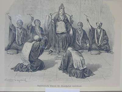 82488-Asien-Asia-Japan-Nippon-Nihon-Buddhisten Bonzen-TH-Wood engraving