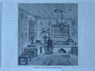 87528-Asien-Asia-China-Chinese Sitting Room-T Holzstich-Wood engraving