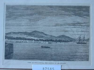 87585-Asien-Asia-China-Nikolaievsk-Amoorland-T Holzstich-Wood engraving