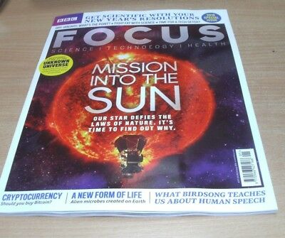 BBC Focus magazine JAN 2018 Mission to the Sun, Dry January, Unknown Universe &