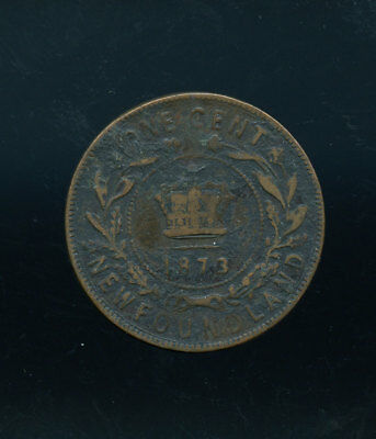 1873 Newfoundland Large Cent   D076