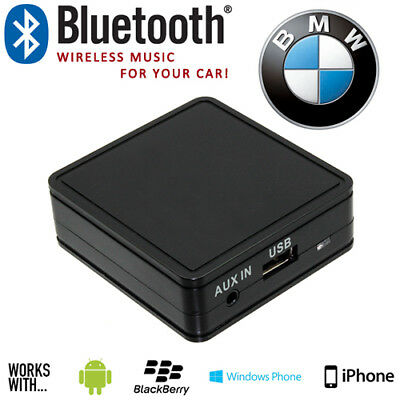 BMW Car Bluetooth iPod iPhone Smartphone Music Aux In Interface Adaptor