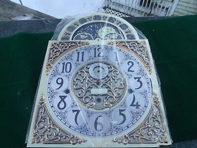 Grandfathers Clock Face Made in Germany Moon Dial HERMLE 461-853 BS