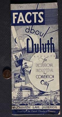 1930s Era Duluth,Minnesota brochure-Recreational, Industrial & Convention City!