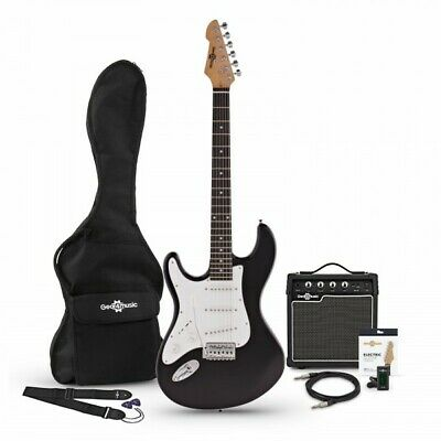 LA Left Handed Electric Guitar + Amp Pack Black