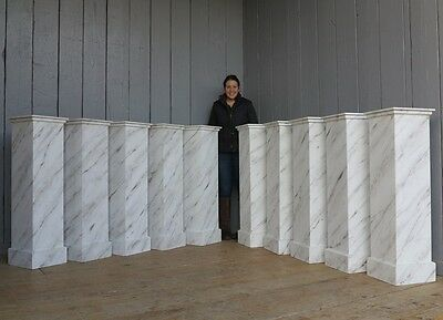 Wooden Painted Marble Effect Plinths or Stands - Indoors Ornament Display