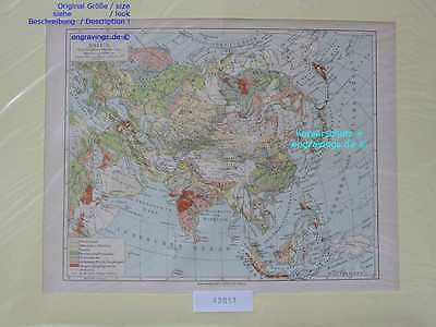 42051-Asien-Asia-LANDKARTE-KARTE-MAP-Lithographie-Lithography-1890