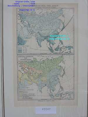 42047-Asien-Asia-LANDKARTE-KARTE-MAP-Lithographie-Lithography-1890