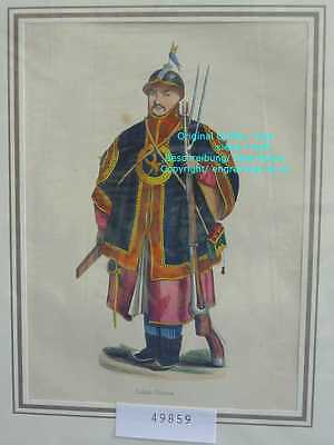 49859-Asien-Asia-China-Soldat-Trachten-Costumes-Hand Koloriert-hand colored-1845