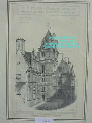74042-Frankreich-Française-Angers-Hotel Pince-Lithographie-Lithography