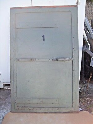 Antique Industrial Steampunk - Green Metal Sliding Door