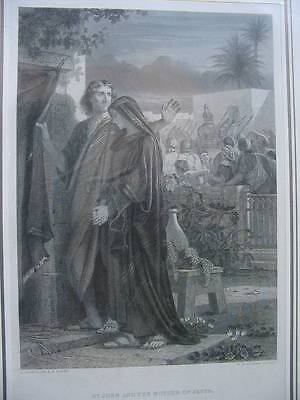 86289-Bibel-Bible-St.John and the Mother of Jesus-Stahlstich-Steel engraving