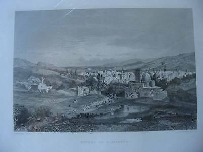 86310-Syrien-Syria-Rivers of Damascus-Damaskus-Stahlstich-Steel engraving