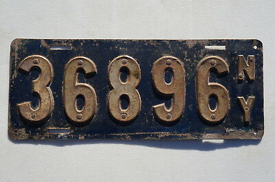 1910 New York 1st State Issue License Plate