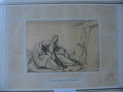 86620-Bibel-Bible-Madonna-Maria-Maries-mit Ornament-Stahlstich-Steel engraving