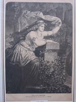 88689-Frauen-Woman-Isolde-T Holzstich-Wood engraving
