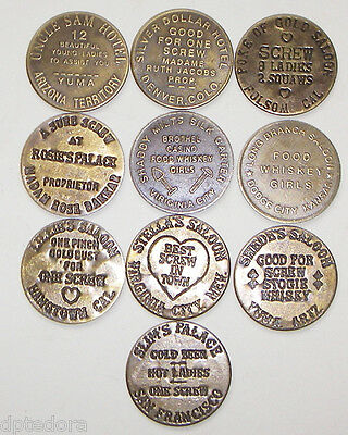 Lot Of 30 Solid Brass Brothel - Cat House Tokens