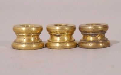 Lot Of 3 Antique Heavy Cast Brass Lamp Spacers