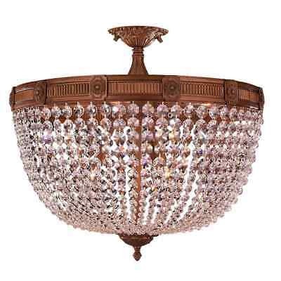 French Empire Basket Style Collection 9-light French Gold Finish and Crystal