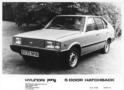 1985 Hyundai Pony Five Door Hatchback ORIGINAL Factory Photo oua0941