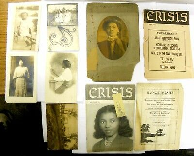 2 Naacp Crisis magazines Along with Vintage African American Postcards and More.