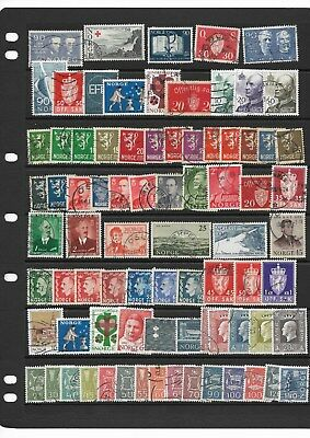 Norway used collection on 2 scans ( Lot 2) (See desc)
