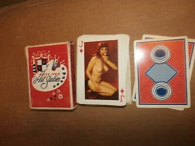 Vintage Antique Nude Risque Naked Lady Playing Cards 52 Fifty-Two Art Studies