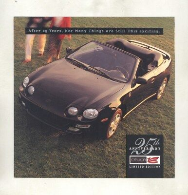 1996 Toyota Celica 25th Anniversary Limited Edition Brochure my6726