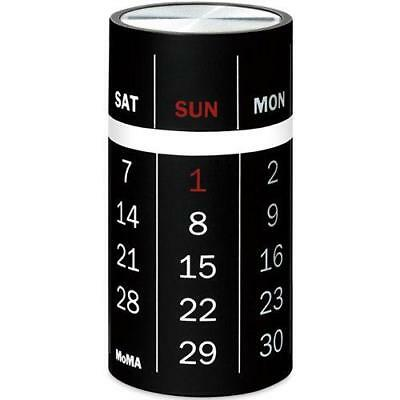 Spindle Perpetual Calendar Black by MoMA Office Desk Accessories
