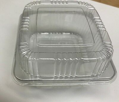 "5""  Clear Plastic Hinged Food Container For Salad Sandwich  100 Pack"