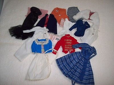 Vintage 1960s Mattel Lot Of Barbie Doll Tagged Clothes / Outfit Completer Pieces