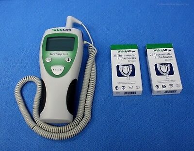 Welch Allyn SureTemp Plus 690 Digital Thermometer Oral Probe 9' Cord 50 Covers
