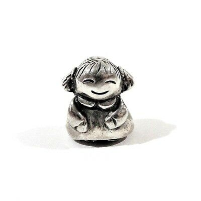 Authentic Pandora 925 Ale Little Girl Sterling Silver Charm 790375 Retired