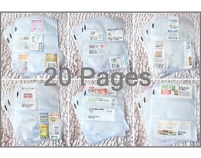 Home & Garden *65* Coupon Pages Sleeves For Organizing Your Binder Choose Your Own Pages!! Household Supplies & Cleaning