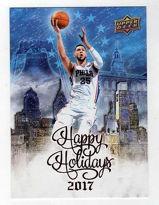 "2017 Upper Deck Happy Holiday 5"" x 7"" Card ... BEN SIMMONS"