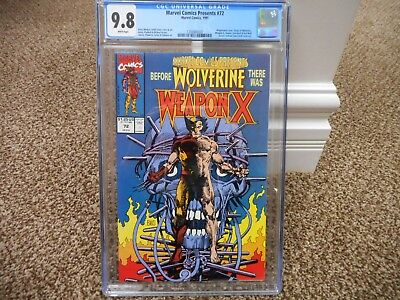 Marvel Comics Presents 72 cgc 9.8 Origin of Wolverine WHITE pages MINT movie TV