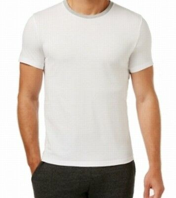 Kenneth Cole Reaction NEW White Mens Medium Downtime Crewneck Tee Shirt $29 #159