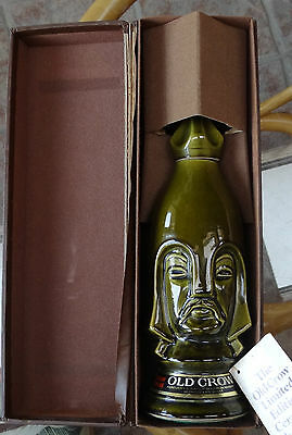 Old Crow Dark Bishop Chessman Decanter Bourbon Whiskey Limited Edition With Box