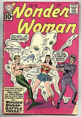 Wonder Woman #125-1961 Mer-Man Queen Hippolyta Sir Galahad...gd+.